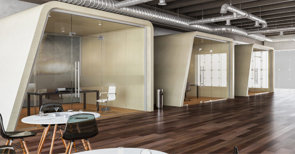 Office space with Sufficient Natural Light